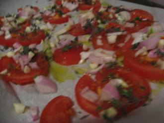 tomatoes, pre-roasting