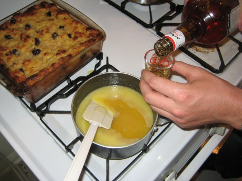 Booze in Your Food: Bread Pudding with Whiskey Sauce | Food Junta