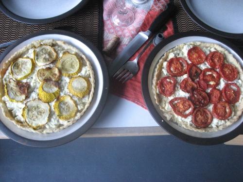 squash and tomato tart